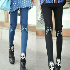 Women's Fashion Sexy Cotton Cat Elastic Tights Leggings Skinny Pants Stretchy
