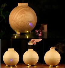 US Air Humidifier LED Ultrasonic Aroma Atomizer Purifier Diffuser Ionizer 600ML