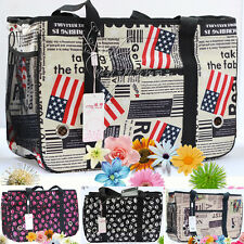 New Canvas Pet Carrier Bag Breathable Dog Cat Puppy Travel Tote Checked Bag