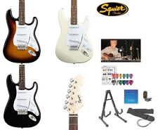 Fender Squier Bullet Electric Guitar Strat Stratocaster w Hard Case Tuner Stand