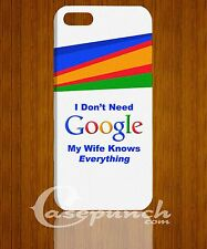 MZ I don't Need Google3 FOR 3D iphone 4 4g 4s 5 5s 5c HTC One M7 back cover case