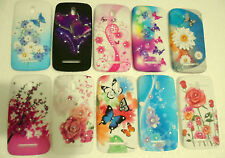 for htc desire 501 soft back case floral flower print diamond type studds cover