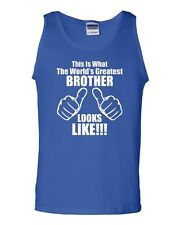 This Is What The World's Greatest Brother Looks Like Novelty Adult Tank Top