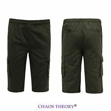 Mens Knee Length Sports Summer Shorts Gym Cargo Training Cropped Pants