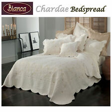 100% Cotton Chardae Ivory Bedspread + P/cases SINGLE King Single DOUBLE QUEEN KI