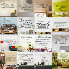 HOT MOTTO QUOTE WORDS ABSTRACT KITCHEN HOME ART WALL STICKERS DECALS MURAL DECOR