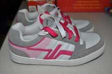 NWT-Girls Route 66 Leather White, Gray and Pink Skate Athletic Shoes-sz 5