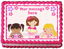 SLUMBER PARTY  Edible image cake topper decoration