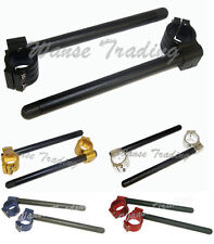 35mm Black Tube Handle Bars Clip On Fit SUZUKI RE5 RL250 TS250 GT GS 550 650 750