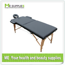 *NEW* POLDABLE Wooden LEGS 2 FOLD Massage Table Spa Tattoo Reiki 2015 NEW MODEL