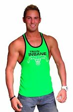 312RC Neon Green Black Trim  Tank Top With Physiqe Elite Design