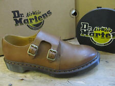 Dr Martens Jules Brown Tan Leather Mens Buckle Monk Shoe