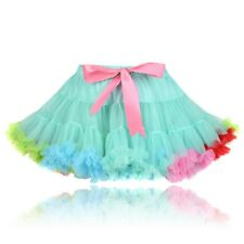 UK STOCK - GIRLS SEA GREEN PINK PRINCESS PETTISKIRT PETTICOAT TUTU - PARTY DRESS