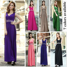 Maternity bridesmaid dress Party Evening Prom gowns 7 colors AUS sizes 10 to 24