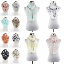 New Shooting Star print pattern large light weight infinity scarf scarves