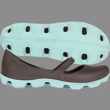 Crocs Women's Duet Sport Mary Jane Flat Espresso Sea Foam Sz 6 7 8 9 10 $45 SALE