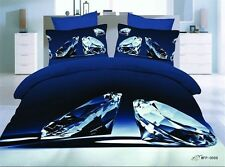 New 3d Bedding family diamond Printing Series Bedding Quilt Bed Single 4pc