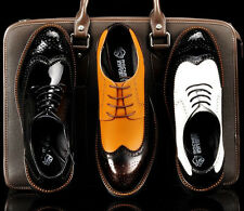 British Mens Dress formal Casual Wingtip  Lace up Oxford lined Brogues Shoes