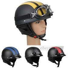 Motorcycle Motor Scooter Open Face Helmet + Visor + Goggles + Scarf