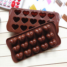 Silicone Cute Heart Cake Tool Chocolate Mold Moulds Jelly Cookie Cutters