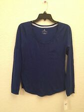 NEW Alfani Women's Scoop Neck L/S Pajama Sleep Top 231118 Sapphire Sea Small