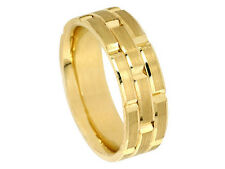 18K YELLOW GOLD ROLEX INSPIRED 8.5mm COMFORT FIT WEDDING BAND