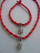 Lucky Red Cord Chinese Feng Shui Lady Buddha Charm Pendant Jewellery Friendship