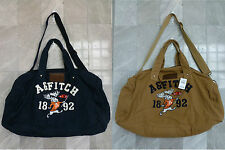 *NWT Abercrombie & Fitch Moose Patched Canvas Duffle Gym Tote Bag Handbag Large