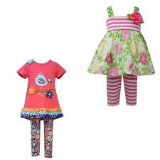 New Baby Girl Bonnie Jean Dress Tunic & Leggings Set Outfit SZ 12 18 24 MO