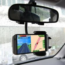Universal Car Rearview Mirror Mount Holder Stand For Mobile Cell Phone GPS PDA