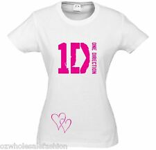 1D ONE DIRECTION T-SHIRT - Up to size 20 - 4 Colours