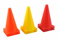 """SET OF 8 ( 22CM 9"""" ) SMALL PRACTICE CONES SOCCER FOOTBALL RUGBY TRAINING"""