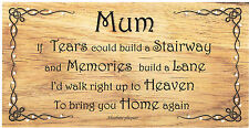 Beautiful wooden plaques handmade signs gifts Memorial Mum Dad Grandparents