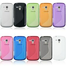 TPU Rubber Back Case Cover Skin For Samsung Galaxy S Duos S7562/Trend Duos S7560