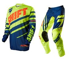 Shift Mx 2015 Youth Assault Navy/Yellw BMX MTB Dirt Bike Motocross Kids Gear Set