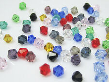 NEW for Jewelry fit 100pcs 4mm Glass Crystal #5301 Bicone beads lots colors Hot