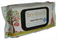 Bambeco Natural Bamboo Baby Wipes Bulk Organic Extracts 4 or 6 pk 80 wipes