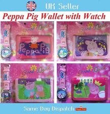 New Peppa Pig George Wallets Bags And Watches Gifts Children Kids Girls Boys