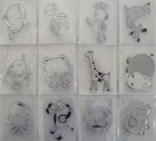 Mini Clear Stamps Animals Fish Hippo Frog Turtle Horse YOU CHOOSE Stamping Craft