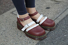 Dr. Martens Aggy T Bar Mary Janes Strap Shoes Red US 6 7 8 9  NEW COLLECTION