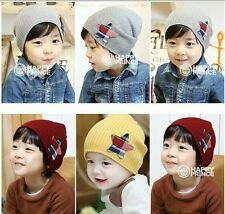 Kid Children Boys Girls Unisex Knit Kintted Hat Cap Five-pointed Stars CCAP194