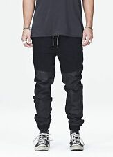 ZANEROBE BLK TRACK SURESHOT LEATHER JOGGER PANT SIZE 30 32 34 36 RETAIL $249.95