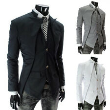 Fashion Men's Suit Asymmetry Hot Sale Price Stand Collar Korean Overcoat