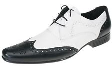 MENS BROGUE LEATHER FUNKY POINTED JAZZ SPAT EVENING PARTY FORMAL GATSBY SHOES