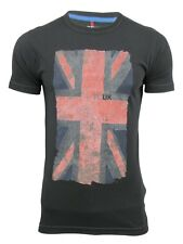 Mens T-Shirt By French Connection/ FCUK 'Flag Vintage' Short Sleeved