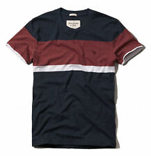 Abercrombie & Fitch Men Allen Mountain Moose Crew-Neck Stripe T-Shirt - $0 Ship