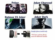 Custom Comic Batman Joker leather wallet flip phone case S3,S4,S3 S4 Mini, S5