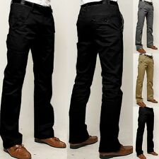 Men's Trousers Long Straight Slim Pure Colour Stylish Casual All-matching Pants