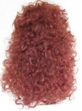 High Volume Dark Copper Red Wild Untamed Long Curly Full Wig Hairpiece 087-130#