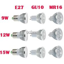 9W 12W 15W MR16/GU10/E27/E14 Ultra Brillante CREE LED COB Bombilla Spotlight